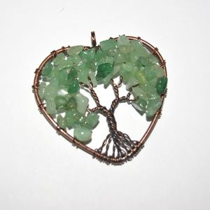 Peridot Tree of Life Copper Wrapped